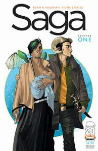 Saga Volume 1 by Brian K. Vaughn and Fiona Staples