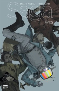 "Saga #12 was solicited with a summary stating ""Prince Robot IV makes his move."""